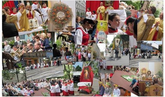 Collage vom Fronleichnamsfest