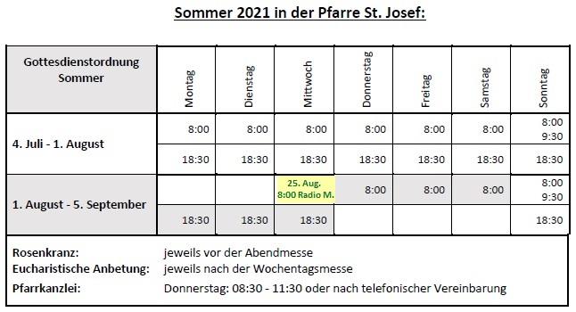 Sommer 2021 in St. Josef